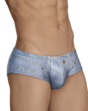 Clever 5422 Cowboy Latin Briefs Blue - StevenEven.com
