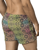 Clever 0664 Barcode Athlete Swim Trunks Green