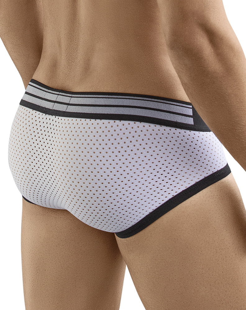 Clever 5359 Extra Sense Piping Briefs White - StevenEven.com