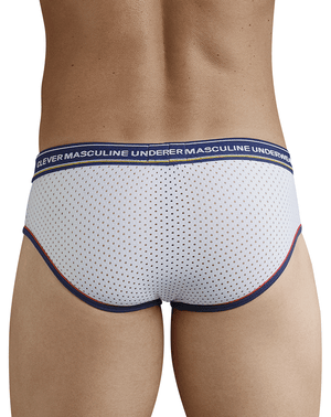 Clever 5375 Fransua Piping Briefs White - StevenEven.com