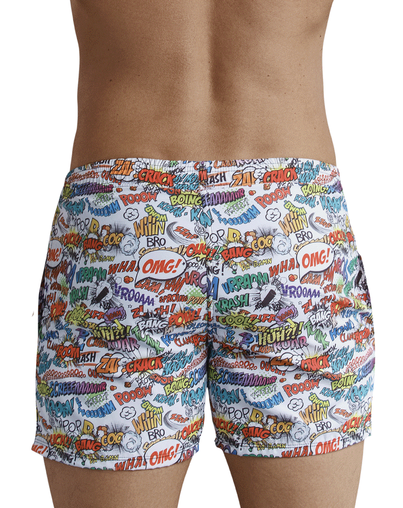 Clever 0673 Okidoky Atleta Swim Trunks White