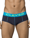 Clever 5352 Open Sky Piping Briefs Blue