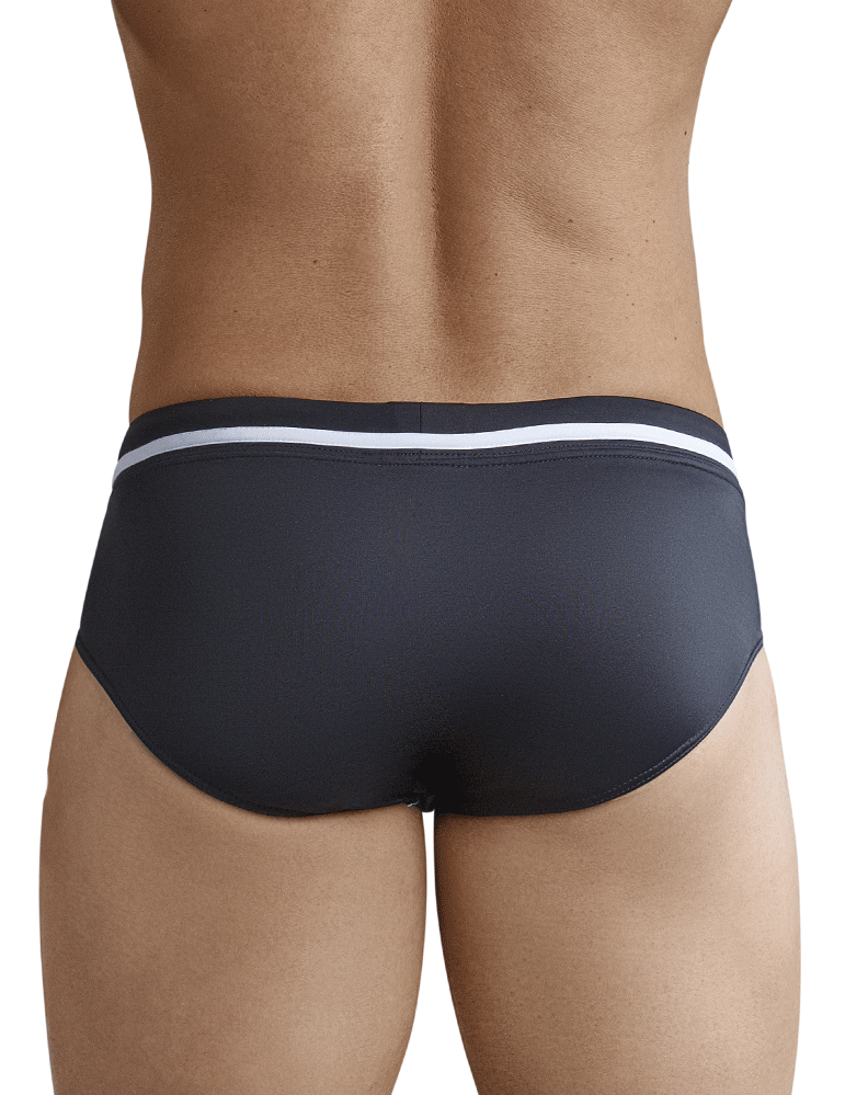 Clever 0668 Pool Party Swim Briefs Black