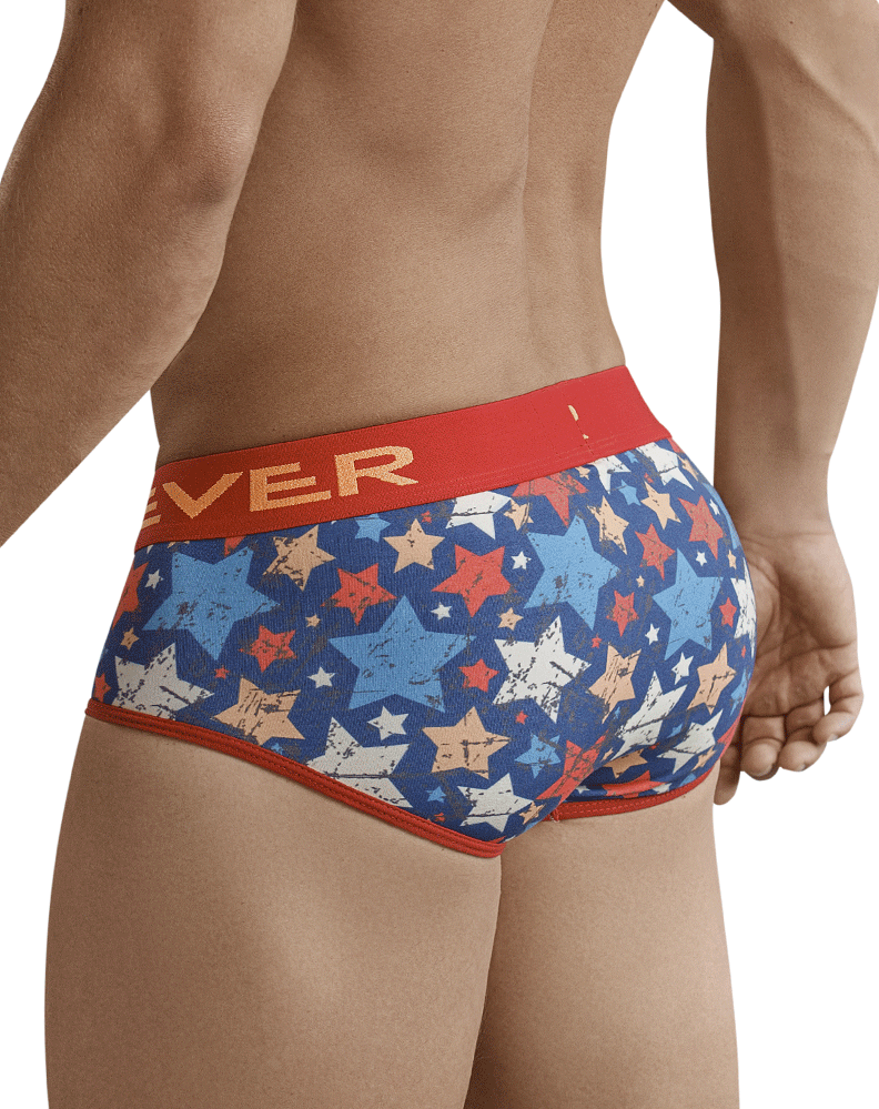Clever 5377 Rocker Piping Briefs Red