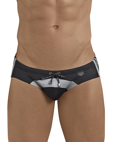 "Jor 0088 Swimsuit Trunk 5"" Border Blue"