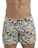 Clever 0684 Leaves Atleta Swim Trunks Yellow - StevenEven.com