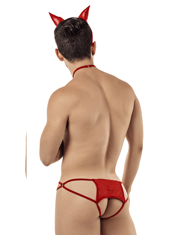 Candyman 99398 Devil Costume Outfit Jockstrap Red