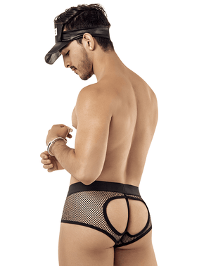 Candyman 99414 Police Man Costume Outfit Briefs Black - StevenEven.com