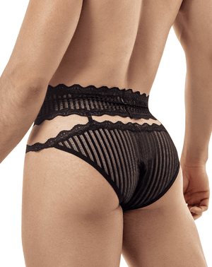 Candyman 99417 Garter Belt Briefs Black