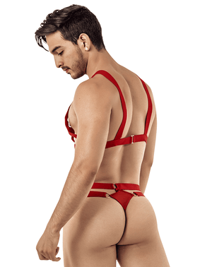 Candyman 99419 Cage Harness Thongs Red