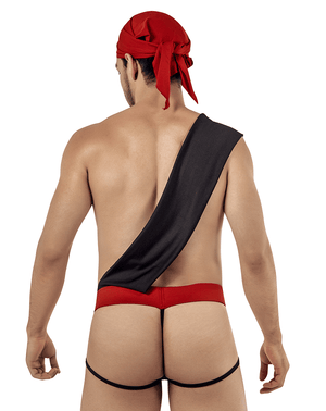 Candyman 99425 Pirate Costume Outfit Thongs Black - StevenEven.com