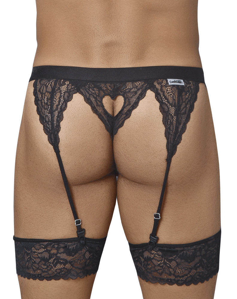 Candyman 99314 Garter Thongs Black