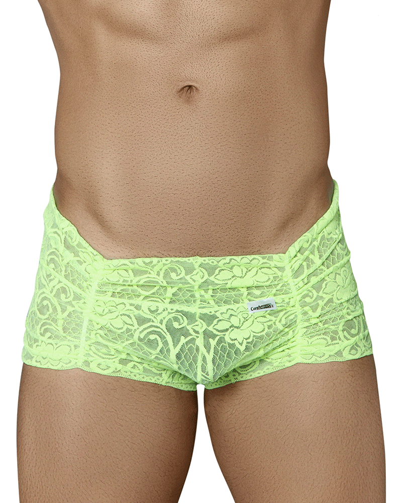 Candyman 99320 Lace Boxer Briefs Green