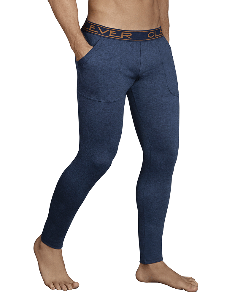 Clever 0317 Cale Athletic Pants Dark Blue
