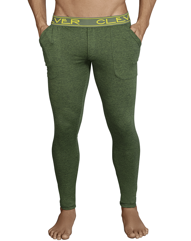 Clever 0317 Cale Athletic Pants Green