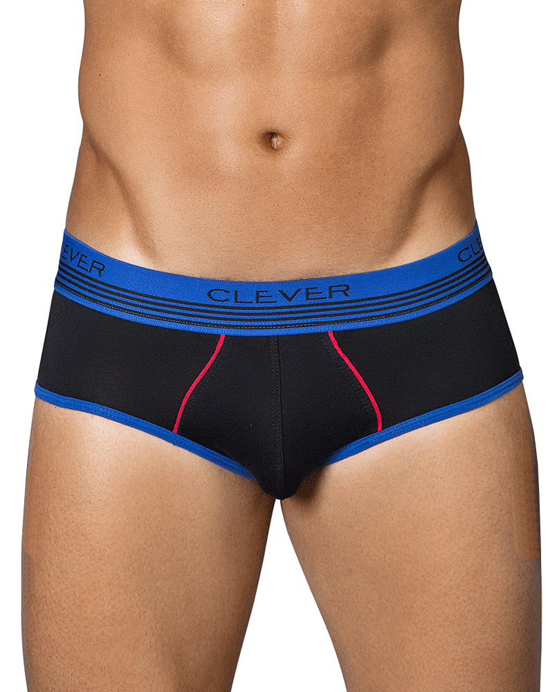 Clever 5334 Slang Piping Briefs Black