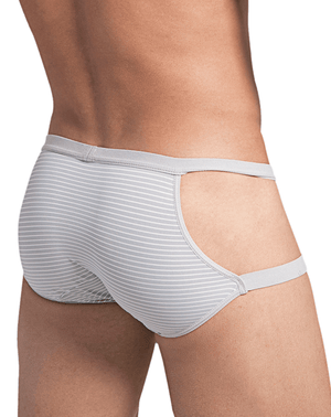 Hidden 958 Open Side Briefs Gray