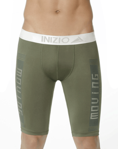 Inizio 27706 Microfiber Long Boxer Briefs Gray