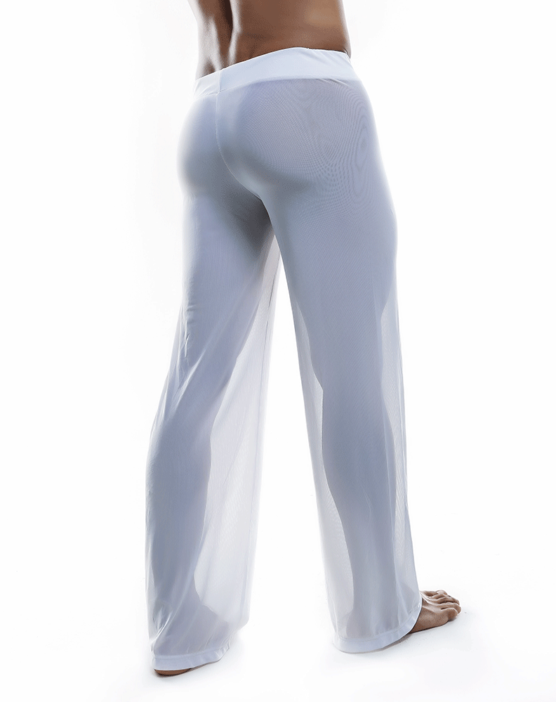 Joe Snyder Js30 Sheer Lounge Pants White Mesh - StevenEven.com
