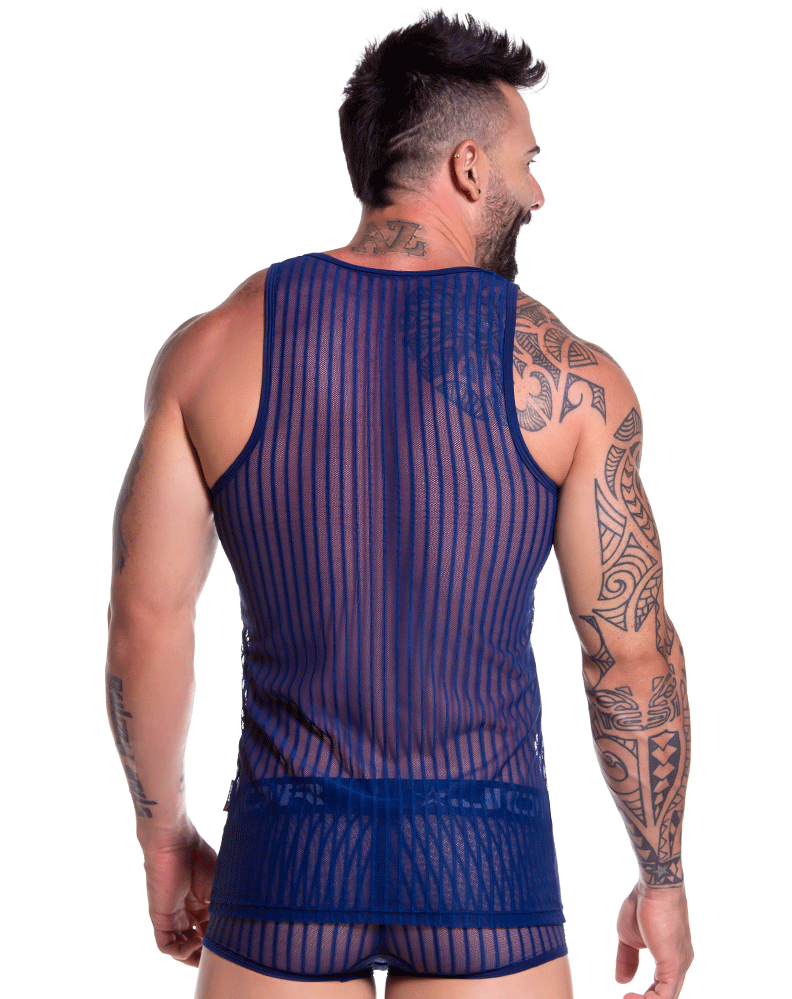 Jor 0732 Onix Tank Top Blue - StevenEven.com