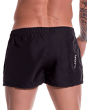 Jor 0787 Torino Mini Short Swim Trunks Black - StevenEven.com