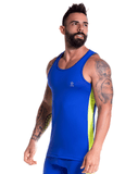 Jor 0789 Runner Tank Top Blue - StevenEven.com