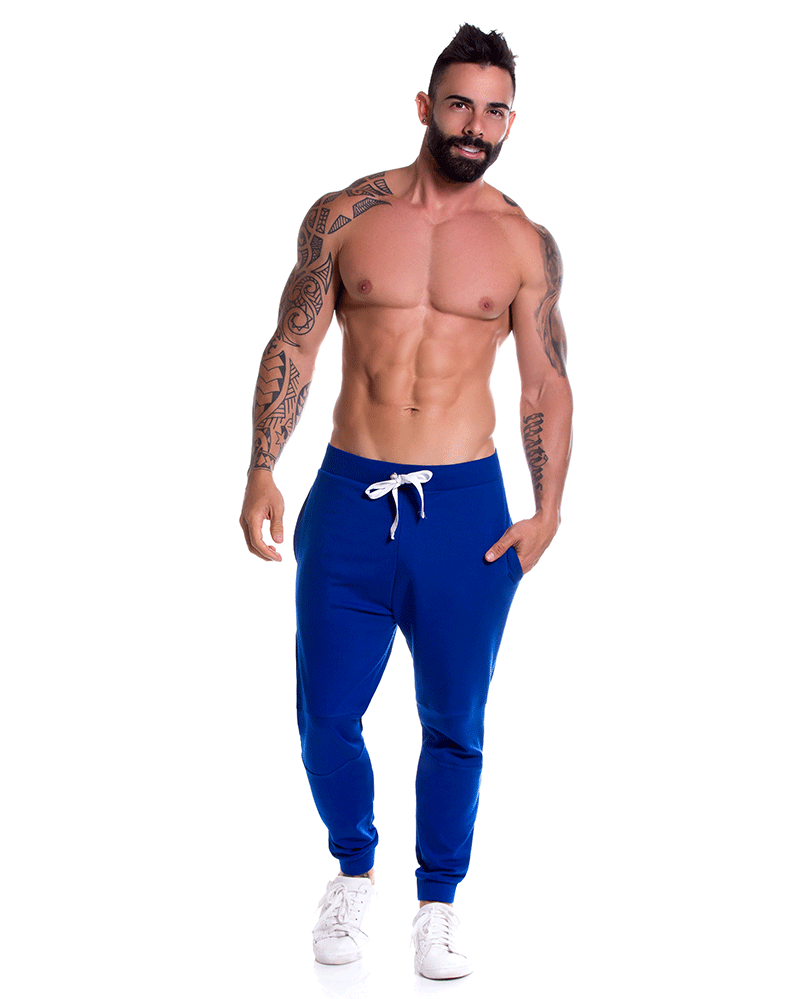 Jor 0791 Boston Athletic Pants Royal - StevenEven.com