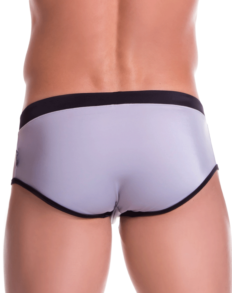 Jor 0810 Sport Swim Briefs Gray-black - StevenEven.com