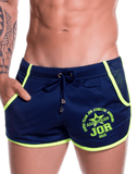 Jor 0816 Ultra Mini Shorts Navy - StevenEven.com