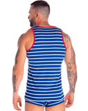 Jor 0842 Atlantic Tank Top Blue - StevenEven.com