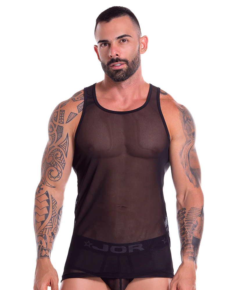 Jor 0886 Mesh Tank Top Black