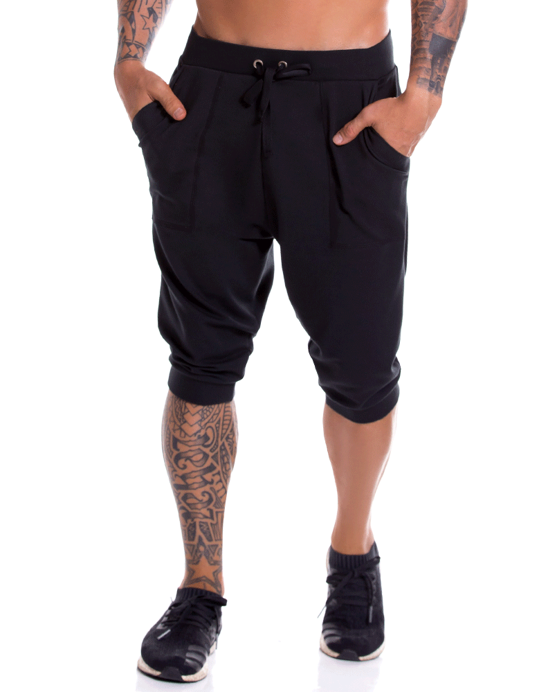 Jor 0931 Neon Athletic Pants Black