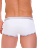Jor 0086 Racing Stripes Swim Trunk Silver