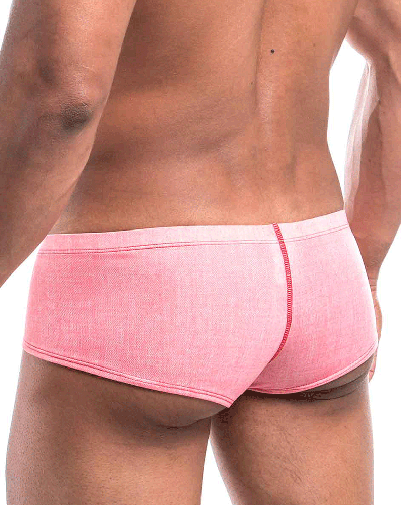 Joe Snyder Js13-denim Denim Cheek Boxer Red Denim - StevenEven.com