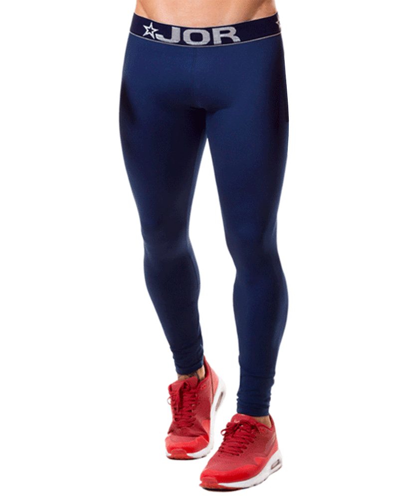 Jor 0375 Fitness Athletic Pants Blue