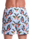 Jor 0780 Aqua Short Swim Trunks Printed
