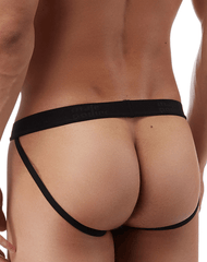 Male Power 390076 Satin Lycra Jockstrap Black - StevenEven.com