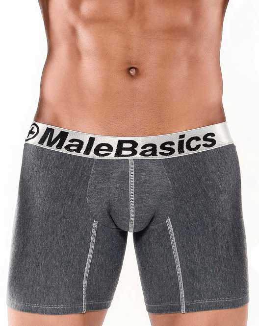 "MALE BASICS MB002 Boxer Brief Asphalt 10"" - Steveneven.com"