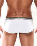 MALE BASICS MB103 Everyday Hip Brief White - Steveneven.com