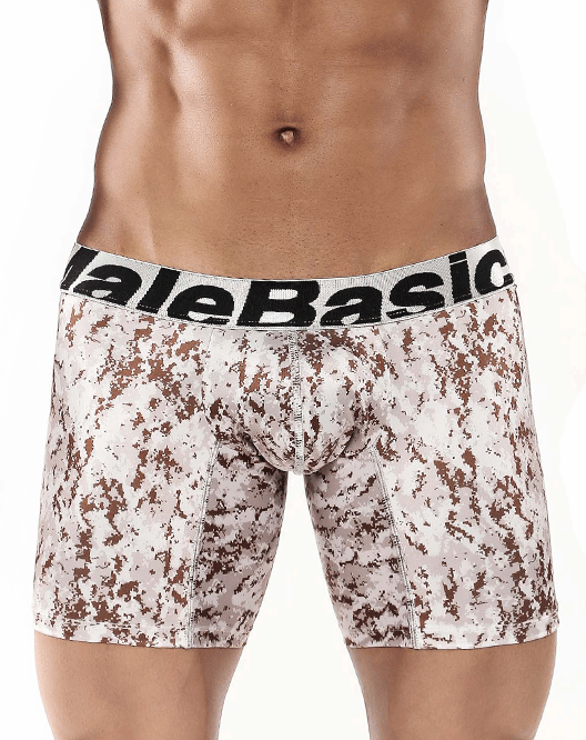 "MALE BASICS MBC02 Microfiber Boxer Brief 10"" Desert - Steveneven.com"