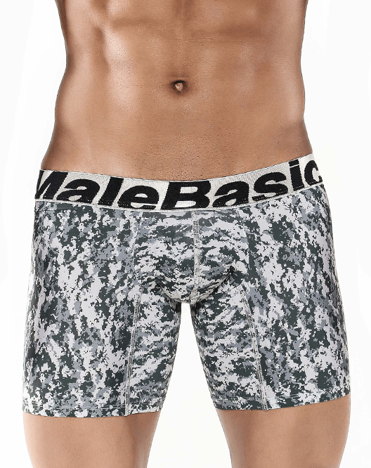 "MALE BASICS MBC02 Microfiber Boxer Brief 10"" Jungle - Steveneven.com"