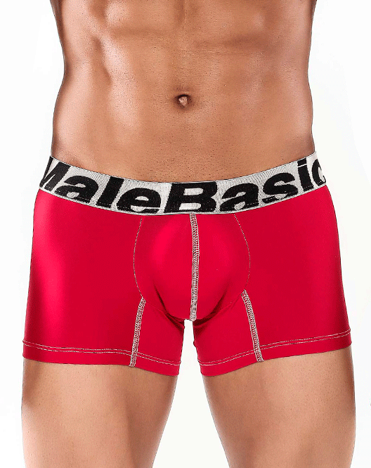 "MALE BASICS MBM01 Microfiber Trunk 7"" Red - Steveneven.com"