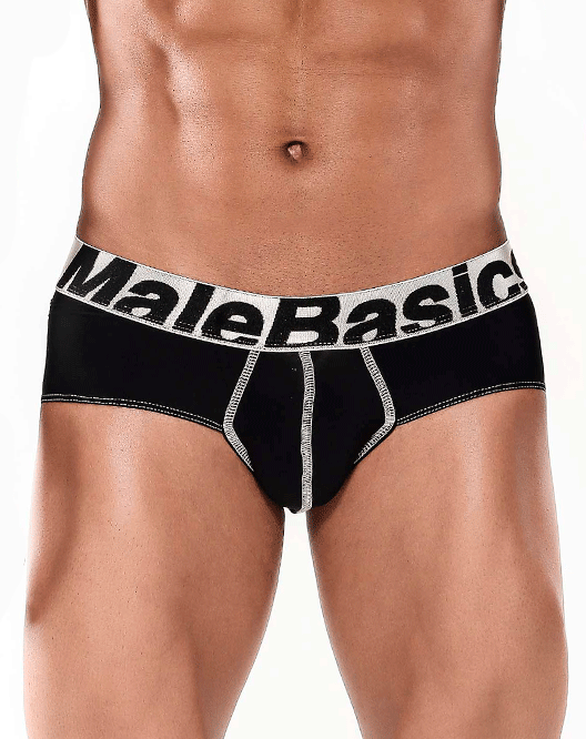 MALE BASICS MBM03 Brief Microfiber Black - Steveneven.com