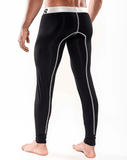 MALE BASICS MBM05 Microfiber Long John Black - Steveneven.com