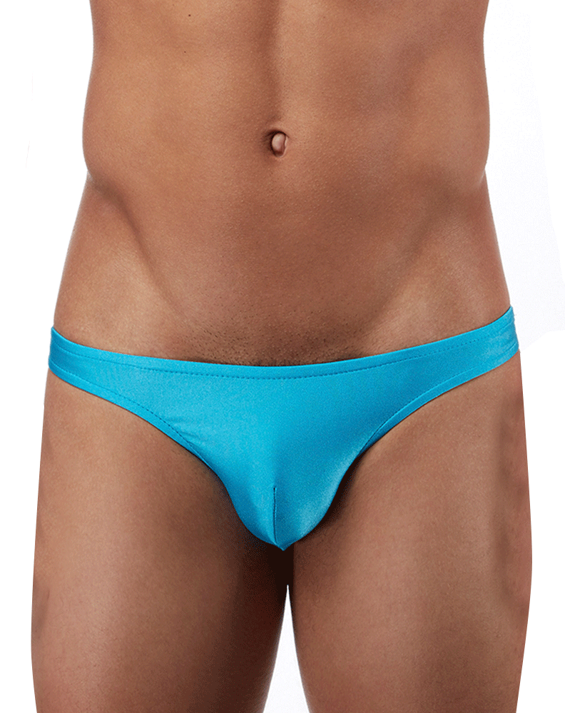 Male Power Pak871 Euro Male Spandex Brazilian Pouch Bikini Blue - StevenEven.com