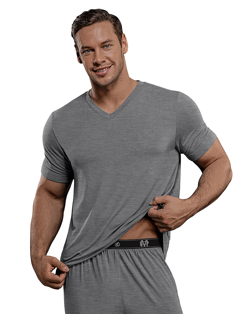 Male Power 102-253 Bamboo T-shirt Gray - StevenEven.com
