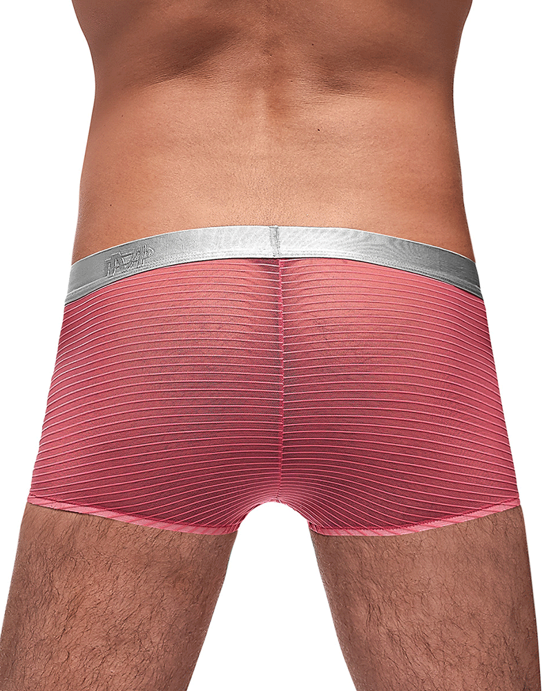 Male Power 145-252 Mesh Rib Mini Short Salmon - StevenEven.com