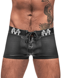 Male Power 146-250 Black Ice Lace Up Short Black