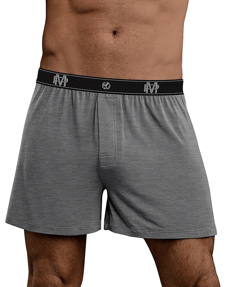 Male Power 160-253 Bamboo Boxer Short Gray