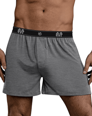 Male Power 160-253 Bamboo Boxer Short Gray - StevenEven.com